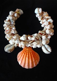 Conus and CowriecShell Necklace Choker Fashion Style Tribal Home Decor Women Fashion Art by ubudexotica on Etsy