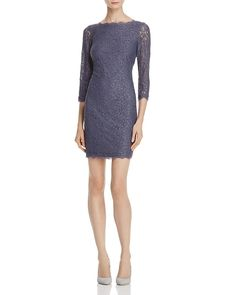f2b09a3e Adrianna Papell Illusion Sleeve Lace Dress Sale - Women - Dresses -  Bloomingdale's
