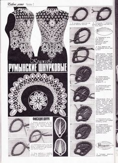 Must learn how to do Romanian Point Lace crochet. Free instructions from a Duplet magazine. Irish Crochet Patterns, Crochet Diagram, Freeform Crochet, Lace Patterns, Thread Crochet, Crochet Motif, Crochet Crafts, Crochet Lace, Crochet Stitches