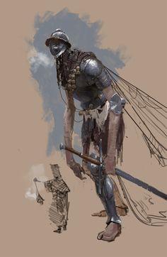 Creature Drawing ArtStation - The Giant Mimr, Axel Sauerwald - Fantasy Armor, Medieval Fantasy, Dark Fantasy, Fantasy Monster, Monster Art, Monster Design, Fantasy Inspiration, Character Design Inspiration, Creature Drawings