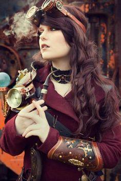 Steampunk fashion. I LOVE Steampunk style!