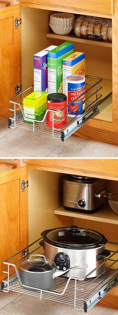 Sliding Cabinet Drawers // Easy Access & Great Organization