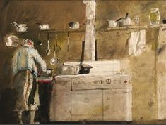 Home Comfort, Andrew Wyeth, 1976.