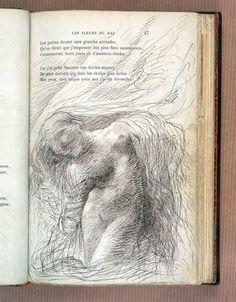 Ilustración de Auguste Rodin para la edición de 1857 de Les Fleurs du Mal (Las flores del Mal) de Charles Baudelaire publicada por Paul Gallimard