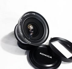 Konica Hexanon AR 21mm F4 Lens in Beautiful Condition w/ Original lens Hood