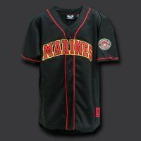 Rapid Dominance BLACK Fully Button Down Military MARINES Logo Baseball  Jersey Size XLarge   Marines Apparel 3e948bb01
