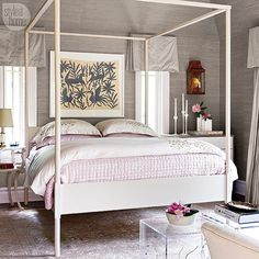 #MakeoverMonday: See how our EIC, @styleathomeeditor turned her master bedroom into a sweet and sophisticated oasis, search 'sophisticated master suite' on styleathome.com! {Photo: @virginmacdonald}