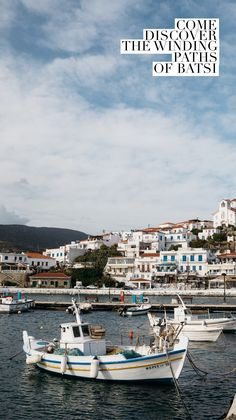 The town of Batsi is everything you can want for a Cycladic stroll. Paths, Paris Skyline, Island, Activities, Adventure, Travel, Viajes, Islands, Destinations