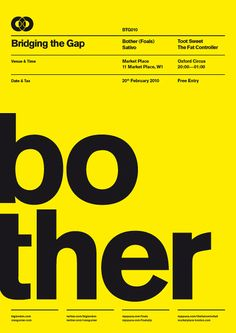 BTG Poster Series by Ross Gunter in Swiss Style Design Inspiration