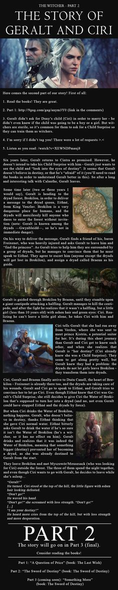 The story of Geralt of Rivia and Ciri - Part 2 - 9GAG