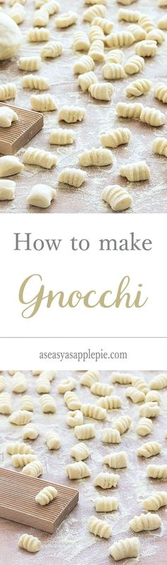 Making gnocchi from scratch is much less complicated than it seems. You only need 2 ingredients: potatoes and flour Making gnocchi from scratch is much less complicated than it seems. You only need 2 ingredients: potatoes and flour Making Gnocchi, Gnocchi Recipes, Endive Recipes, Radish Recipes, Tasty, Yummy Food, Delicious Recipes, Homemade Pasta, Gastronomia