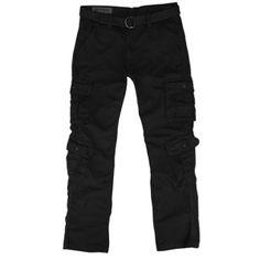 Southpole Double Pocket Cargo Pants - Black Cargo Pants Men, Black Pants, All Black, Parachute Pants, Sweatpants, Pocket, Shorts, Jeans, Fashion
