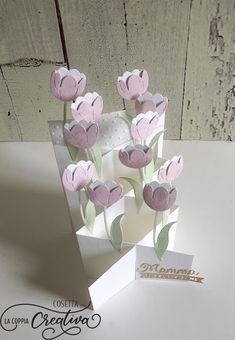 Birthday Card Pop Up Flowers 32 Ideas Fun Fold Cards, Pop Up Cards, Diy Cards, Handmade Cards, Cards Ideas, Pop Up Flowers, Easy Paper Flowers, Diy Flowers, Birthday Card Pop Up