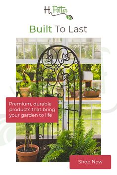 H Potter Large Wrought Iron Ornamental Metal Scroll Garden Trellis, enhance any outdoor environment, offers additional privacy for your home and garden. Wisteria Trellis, Garden Trellis, Trellis Design, Iron Trellis, Metal Trellis, Patio Wall Decor, Garden Gates And Fencing, Garden Screening, Garden Entrance