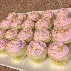 Pink & Gold Twinkle Twinkle Little Star mini cupcakes