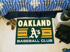 "Oakland Athletics Baseball Club Starter Rug 19""x30"""