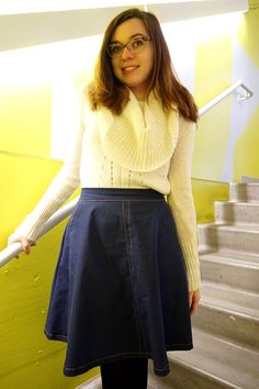 Why I Will (Eventually) Recreate This Denim Hollyburn Thread Up, High Waisted Skirt, Denim, Pretty, Skirts, How To Make, Fashion, Moda, Skirt
