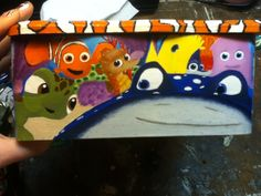Left side of Finding Nemo box , hand painted