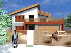 Casa NB 25 Buzau.Proiect casa 100 mp construiti (200 mp desfasurat) - YouTube