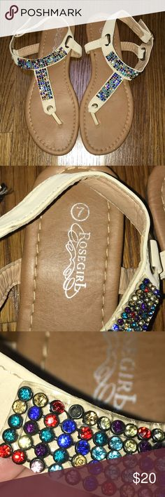 Rosegirl Women's Size 7 Jeweled Sandals Rosegirl brand  Women's size 7 multicolored jeweled sandals Rosegirl Shoes Sandals