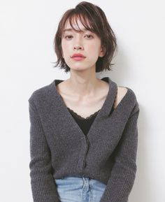 18 Asian Bob Hairstyles That Will Inspire You To Chop It All Off - The Singapore Women& Weekly 18 Asian Bob Hairstyles That Will Inspire You To Chop It All Off - The Singapore Women& Weekly Medium Thin Hair, Medium Hair Styles, Short Hair Styles, Haircuts Straight Hair, Short Hair Cuts, Casual Hairstyles, Hairstyles With Bangs, Bob Perm, Asian Bob