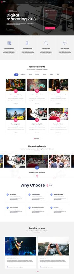 EM4U is a stylish, futuristic and fully responsive event management WordPress theme with various advanced features like events, speakers, venue, schedule and manage info attendees.