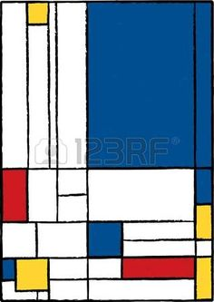 mondrian style: Cubist painting