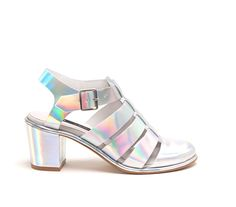 LYNN IRIDESCENT SILVER - Miista - Find 150+ Top Online Shoe Stores via http://AmericasMall.com/categories/shoes.html