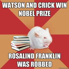 watson and crick win nobel prize rosalind franklin was robbed Science Major Mouse