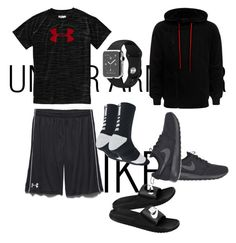 """mens sportswear"" by fashionkingny ❤ liked on Polyvore featuring Under Armour, NIKE and Alexander McQueen"