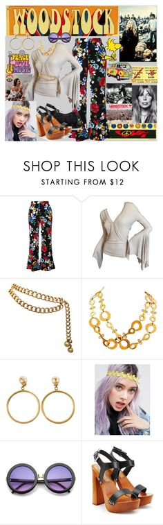 WOODSTOCK 1969 by marlaj-50 on Polyvore featuring Tom Ford, Piamita, Dsquared2, Chanel, Kenneth Jay Lane, ASOS, ZeroUV and ShoeDazzle