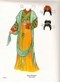 Paper Dolls: Chinese Costumes