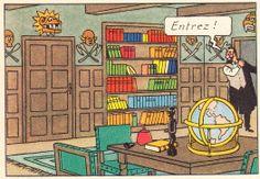 Chez M. Bergamotte - Les 7 boules de cristal - Tintin - Hergé