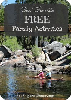 Fun definitely isn't measured by the money  you spend.  In fact,  free family activities may even be more fun because you won't need to get out your wallet!  Here are some of our favorite free family activities from this summer! family fun activities #family