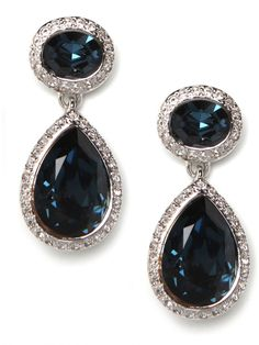 sapphire sparkle drop earrings - bauble bar invitation code: 35808