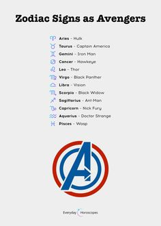 Do you like Avengers? Here's the Avenger you are based on your zodiac sign. Do you like Avengers? Here's the Avenger you are based on your zodiac sign. Zodiac Funny, Zodiac Signs Sagittarius, Zodiac Sign Traits, Zodiac Memes, Astrology Zodiac, Leo Zodiac Facts, Pisces Quotes, Astrology Chart, Zodiac Signs Dates
