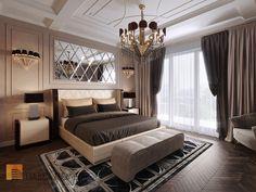 Фото спальня из проекта «Дизайн четырехкомнатной квартиры в стиле Ар-деко, ЖК Привилегия, 172 кв.м.»