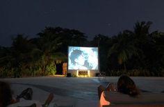 Soneva Fushi - beach cinema in Maldives