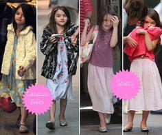 A filha do Tom Cruise com a Katie Holmes já  encontrou o estilo dela. Linda e super fashion