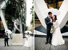 wedding by the gherkin london
