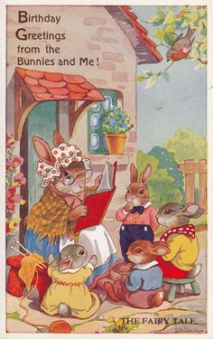 E H Davie - Birthday Greetings from the bunnies and me!