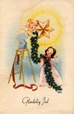 Vintage Angelic Christmas Card