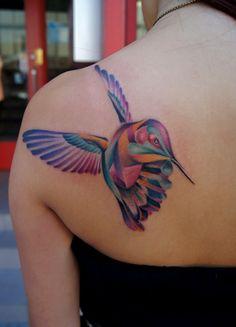 Nice Birds Tattoos On Back Shoulder photo - 3
