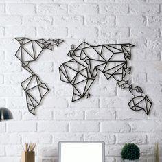 (New) Metal Wall Art - World Map