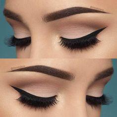 10 Hottest Eye Makeup Looks – Makeup Trends: Natural Smokey Eye with Thick Eyeliner Makeup Goals, Love Makeup, Makeup Inspo, Makeup Inspiration, Makeup Tips, Beauty Makeup, Perfect Makeup, Makeup Tutorials, Makeup Hacks