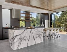 53 Favorite Modern Kitchen Design Ideas To Inspire. When it comes to designing the modern kitchen, people typically take one of two design paths. The first path uses modern art . Modern Kitchen Tables, Small Modern Kitchens, Luxury Kitchens, Cool Kitchens, White Kitchens, Kitchen Rustic, Best Kitchen Designs, Modern Kitchen Design, Modern House Design