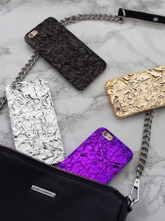 Crystalline Cases in Amethyst, Silver, Gold & Titanium Black. Available for iPhone 6/6s & 6 Plus 6s Plus from Elemental Cases