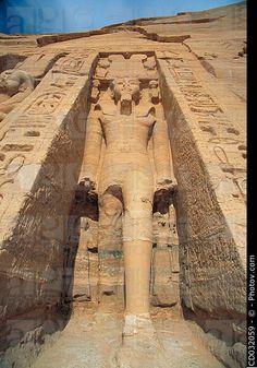 Statue of Ramesses II. Temple of Hathor (smaller Abu Simbel Temple). Abu Simbel. Aswan