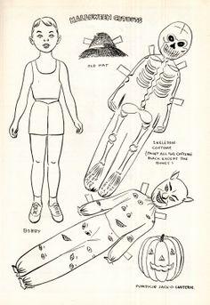 Halloween Paper Dolls, 1951 | Keepapitchinin, the Mormon History blog