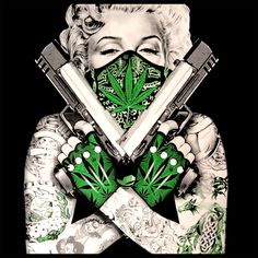 "Marijuana Monroe ""Gangster"" Girl's T-Shirt"